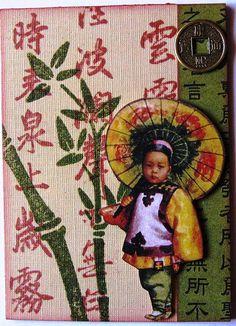 oriental art stamp stencil image coin