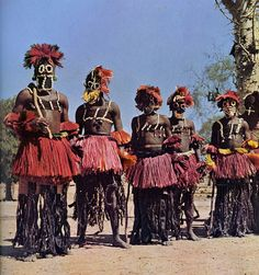 Africa | Just one of the many lovely images from the publication Parures africaines (www.amazon.fr/...) published in 1956. | Although no details provided by Flickr user, Old Chum, most probably this photo was taken in Dogon country, Mali
