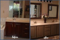 {enjoy the view}: Master bath makeover! Would like to do this with our mirror