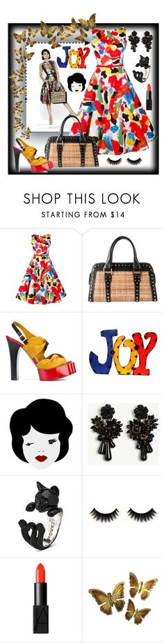 """Untitled #126"" by spudart ❤ liked on Polyvore featuring Oscar de la Renta, Fendi, Vivienne Westwood, Rustic Arrow, Ann Taylor and NARS Cosmetics"