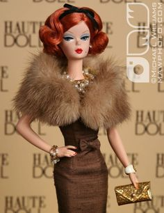 Barbie Dolls : Fashion Editor Silkstone restyled and redressed Vintage Barbie Kleidung, Vintage Barbie Clothes, Doll Clothes, Manequin, Moda Retro, Poppy Parker, Beautiful Barbie Dolls, Barbie Patterns, Barbie Dress