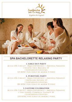 Spa Bachlorette Relaxing Party - Sun Garden Resort Face Massage, Resort Spa, Girls Out, Circuit, Aqua, Relax, Sun Garden, Party, Amazing