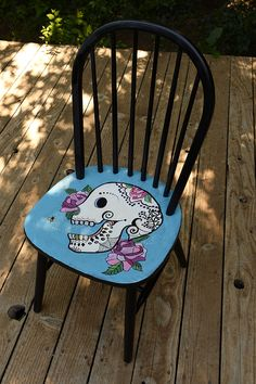 Day of the Dead chair/Scully