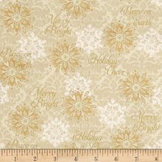 Winter Bliss Snowflake Cream from @fabricdotcom  Designed by Sharla Fults for Studio E Fabrics, this holiday inspired cotton print is perfect for quilting, apparel and home decor accents. Colors include shades of tan.