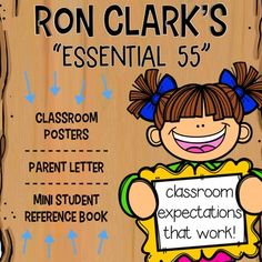 """Using Ron Clarks """"Essential 55"""" has dramatically impacted my classroom for the better. The students in my class are kind, gracious and respectful. Administrators and other colleagues are blown away with my students courtesy throughout the building. Parents are raving about their new kids."""