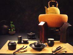 陶作坊_薪火相傳二代與香爐茶具組合