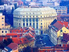 Zagreb from viewpoint Croatia, Times Square, Travel, Viajes, Destinations, Traveling, Trips