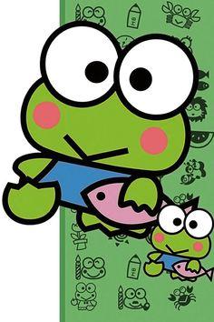 Keroppi Wallpaper, Hello Kitty Wallpaper, We Bare Bears, Line Friends, Sanrio Characters, Frogs, Iphone Wallpaper, Chibi, Cartoons