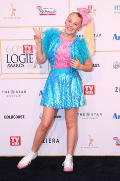 df3f0252 JoJo Siwa arrives at the 60th Annual Logie Awards at The Star Gold Coast on  July