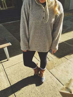 bean boots + pullover