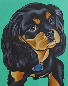 Cavalier King Charles Spaniel King Charles Spaniel, Cavalier King Charles, Pet Portraits, Dog Breeds, Monochrome, Disney Characters, Fictional Characters, Disney Princess, Pets