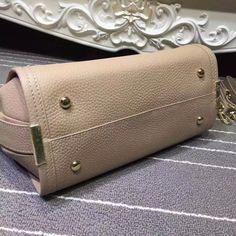 #Coach designer handbags with adjustable shoulder strap in khaki buttom detail size 27x20x14cm  http://linerbuy.com