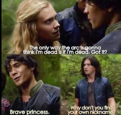 WHY DON'T U TELL CLARKE U HAVE A GIRLFRIEND ALREADY FINN? #TEAMBELLAMY