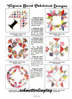 c1930 Depression Era Patchwork Quilt Pattern by schmetterlingtag