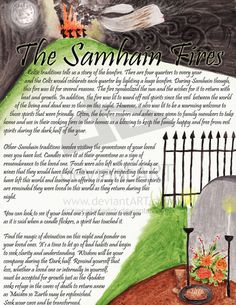 "Samain:  ""Samhain Fires - page 1,"" by jezebelwitch, at deviantART."