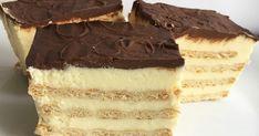 ciasto, bez pieczenia, krakersy, krem budyniowy, deser, krem karpatkowy,