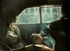 Marie Jo smoky car.  Nan goldin pour toujours <3