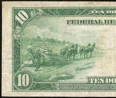 American Hemp Farmers On a 1914 Ten Dollar Bill  ~ marijuanachecks.com ~ Like our fb page at http://facebook.com/legalizationchecks