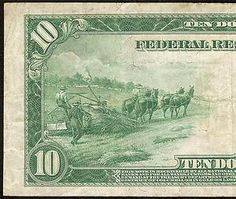 American Hemp Farmers On a 1914 Ten Dollar Bill  ~ marijuanachecks.com ~ Like our fb page at http://facebook.com/legalizationchecks