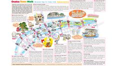 Illustrated Map for Osaka Walk.