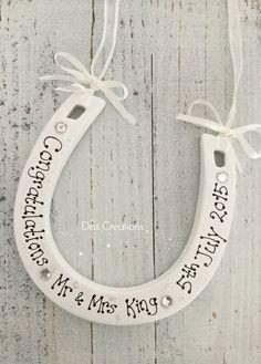 Personalised Ceramic Lucky Horseshoe Wedding Gift, £10.00