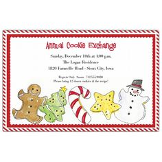 Cookie Exchange Invitation Cookie Exchange Party Pinterest