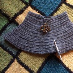 Viking neck warmer Nalbinded Jacobs wool