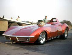 photos of marv eldridge funny cars | Photo: Marv Eldridge Fiberglass Trends Corvette 68 FC 4 1968 Irwindale ...