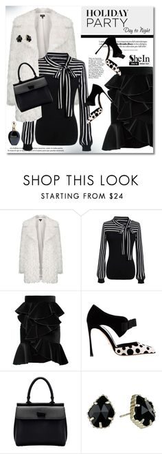 """""""Day to Night: Holiday Party"""" by svijetlana ❤ liked on Polyvore featuring Topshop, Balmain, Sergio Rossi, Kendra Scott, Roberto Cavalli, polyvoreeditorial and HolidayParty"""