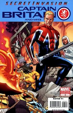 Captain Britain and MI13 # 3 (Variant) by ?