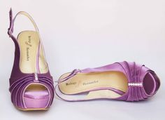 Zapatos de Novia, Rodrigo Hernández Color Lila con Aplicación Pliegues