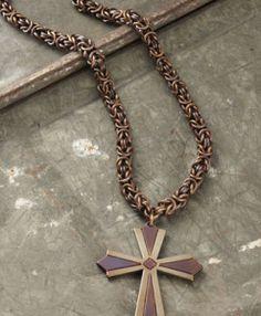 Copper Byzantine with Tribal Cross