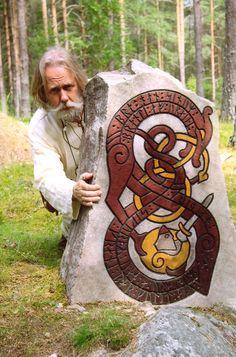 Runestone by Sven Eriksson, Årsunda Viking http://paganroots.tumblr.com/post/110691481122/by-sven-eriksson-arsunda-viking