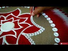 New Rangoli Desings With Colours for Festivals - Rangoli Competition Designs - Rangoli by Maya! - YouTube