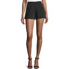 Alexis Carrie High-Rise Shorts ($168) ❤ liked on Polyvore featuring shorts, black, women's apparel shorts, woven shorts, slim shorts, high rise shorts, high-rise shorts and highwaist shorts