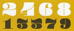 pompadour numerals---would love to see this in lettering action as well! via lost type co-op