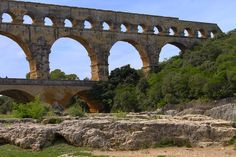 #France #pontdugard #nature #bridge #rocks #sky #green #travel #photographer