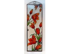 Tulips  Painted Glass by KorosiArt on Etsy