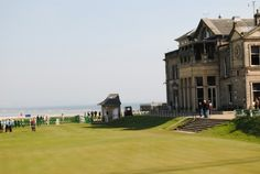 5 Golf Place, a two bedroom house adjacent to the 18th hole on the Old Course, St Andrews.