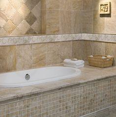 Bathroom wall decoration with our Hand-Harved Beige Marble Border in Pure Gold, Sea Shell Design. #handmade #handcarved #marble #border #marbleborder #design #decor #decorativetile #designtile #designmarble  #carved #engraved #etched #marbetile #beige #beigedecor #towel #bathtowel #wall #walldecoration  #saop #basket #tub #bathtub #tgif #friday #motivation #cozy #bath #aneleganttouch