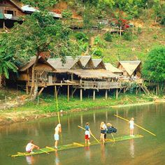 Bamboo rafting is an equally relaxing, equally exhilarating way to explore the jungle.