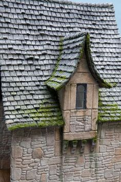 dollhouse shingles and stonework