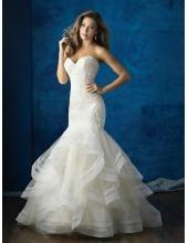 robe de mariage organza col en coeur