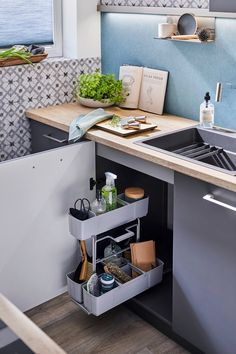 cleaningAGENT is a pullout storage solution and cleaning caddy all in one! Organize and keep your under-sink area clutter-free. Cleaning Caddy, Cleaning Agent, Cleaning Hacks, Cleaning Supplies, Under Sink Organization, Sink Organizer, Kitchen Organization, Kitchen Cart, Kitchen Decor