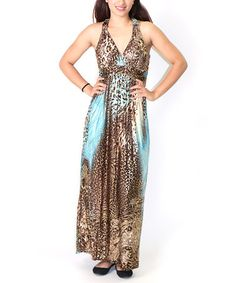 This Coffee Jungle Maxi Dress is perfect! #zulilyfinds