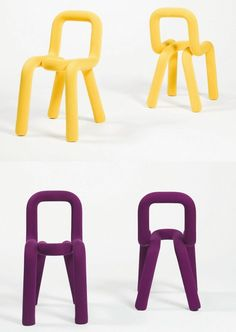 Fabric chair with removable cover BOLD by Moustache | #design Big-Game #colour