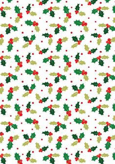 Christmas scrapbook paper - Holly