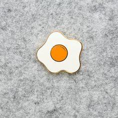 Fried Egg Enamel Pin Lapel Pin