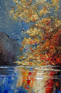 "Series of oil paintings "" Rivers "". Knife Painting, Dark Art, Landscape, Pictures, Photography, Instagram, Oil Paintings, Rivers, Contrast"