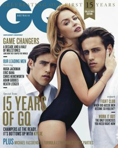 stenmark twins gq australia cover kylie minogue photo 800x1004 Jordan + Zac Stenmark Join Kylie Minogue for the March 2014 Cover of GQ Austr...